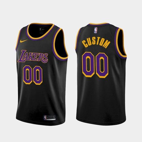 Men's Los Angeles Lakers Custom 2021 Earned Black Jersey